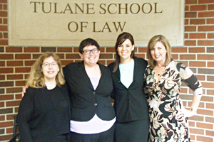 From left, Professor Nancy Soonpaa, Jessica Haseltine, Sara Norman and Professor Wendy A. Humphrey.