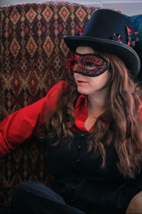 The Morris Dancer, played by Megan White, is one of the characters in the Crossroads Project.