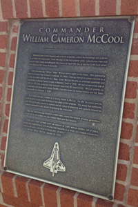 The plaque that accompanies the Willie McCool statue. Click photo to enlarge.