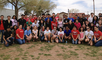 The helpful students did everything from preparing meals to yard work to painting.