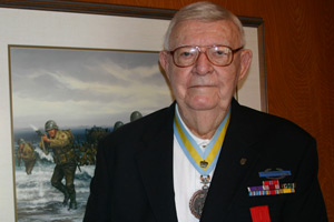 Jack Bennett recently was honored for his service by the French government as a Knight of the French Legion of Honor – the highest honor bestowed by the European country to either members of the military or civilians.