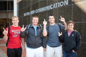 The newly renovated Media and Communication building opened for students this academic year.