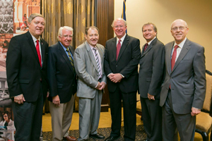 Danny Reible, second from right, with officials from Texas Tech and J.F Maddox Foundation.