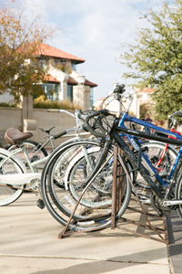 Texas Tech now has racks to house about 8,000 bikes.