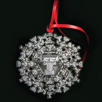 the 2013 official texas tech ornament contains 90 double ts arranged in the shape of a snowflake to commemorate texas techs 90th anniversary - Texas Tech Christmas Decorations