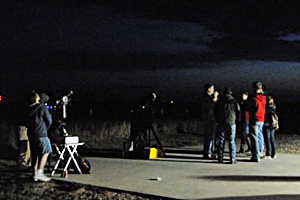 Texas Tech physics students host a Star Party at the observatory.