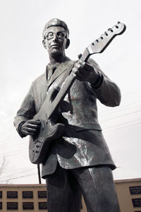 Buddy Holly statue in downtown Lubbock.