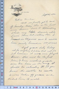 Letter from TXMSC archive.
