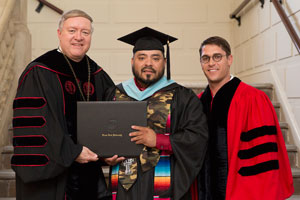 Sedeño with President Nellis and John Steinmetz
