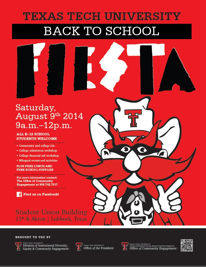 Back to School Fiesta 2014 poster