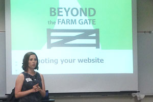 Associate Professor Courtney Meyers explained the benefits of creating your own business website.