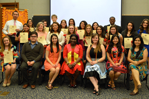 Members of Texas Tech University's Alpha Phi Chapter of Sigma Delta Pi.