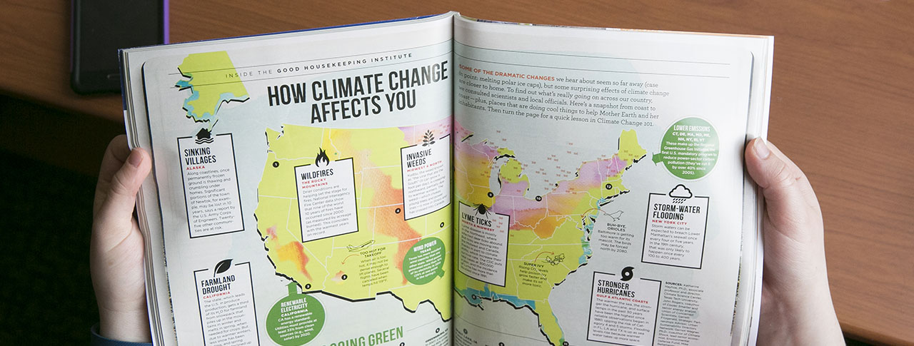 Faculty, Students, Alumni Contribute to Good Housekeeping's  April Climate Change Coverage