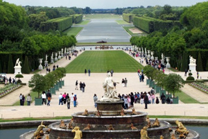 The gardens at Versailles in Paris, France.