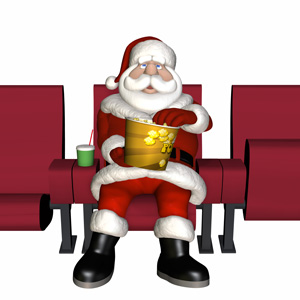 Santa at the movies