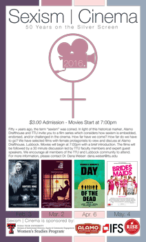 2016 Sexism in Cinema Series Poster