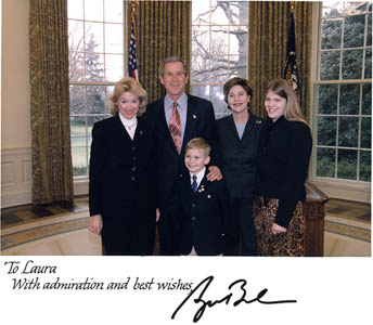 Husband family meets with President George W. Bush
