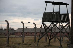 Guard tower at Auschwitz