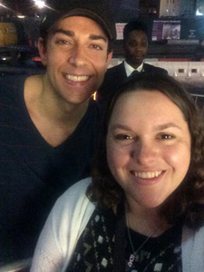 Brook Barrett with Zachary Levi