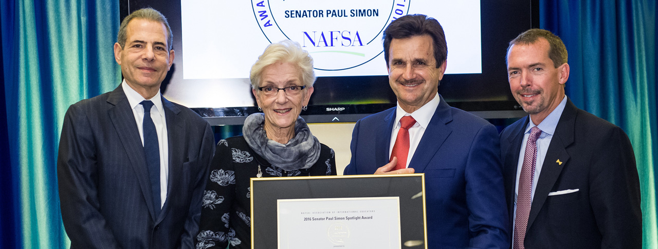 Texas Tech University Accepts Paul Simon Spotlight Award