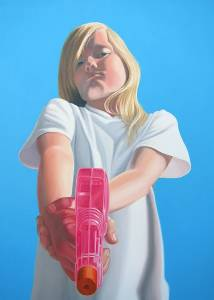Shannon Cannings. Angel. 2013. oil on canvas. 56 x 40 inches.