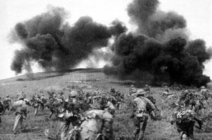 Viet Minh in battle in Dien Bien Phu, Vietnam