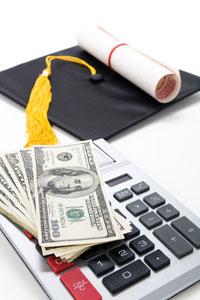 diploma/money/mortar board