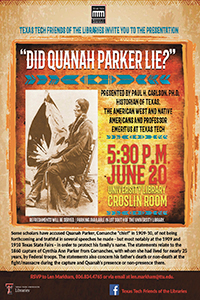 Did Quanah Parker Lie