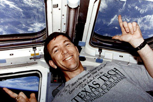 Texas Tech alumnus Rick Husband aboard STS-96.