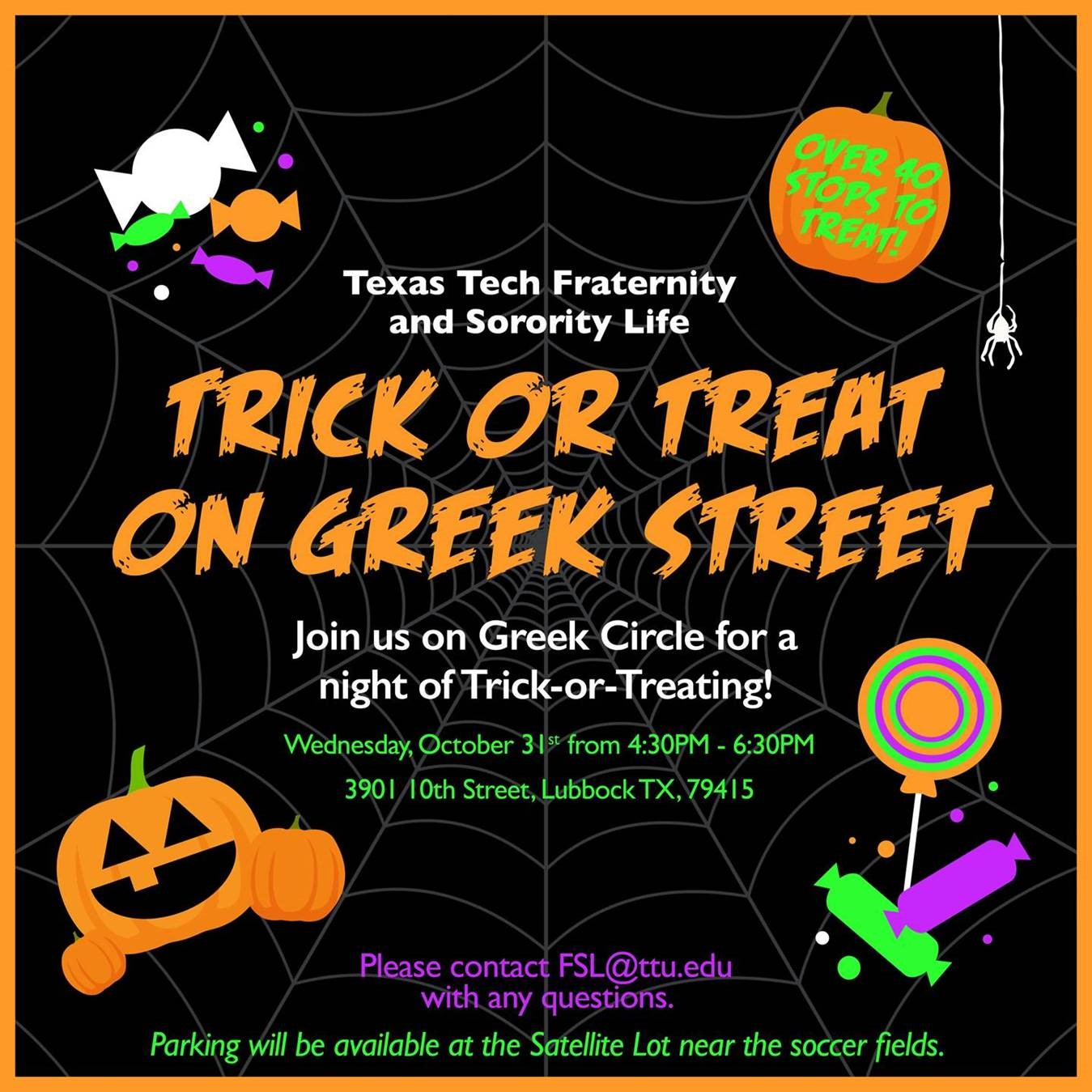 fraternity and sorority life will host halloween event | texas tech