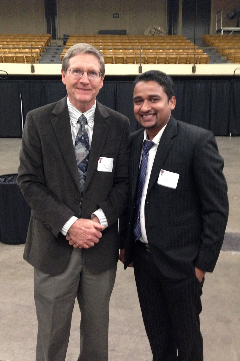Madhav Dhakal and Texas Tech professor Chuck West