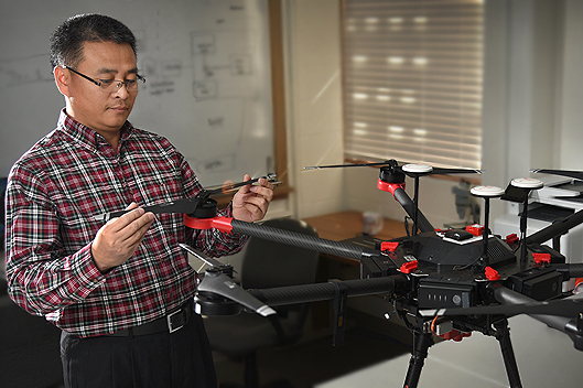 Professor with drone