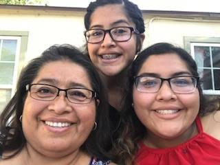 Teresa Rodriguez (left) with daughters Sonia (middle) and Maria Isabel