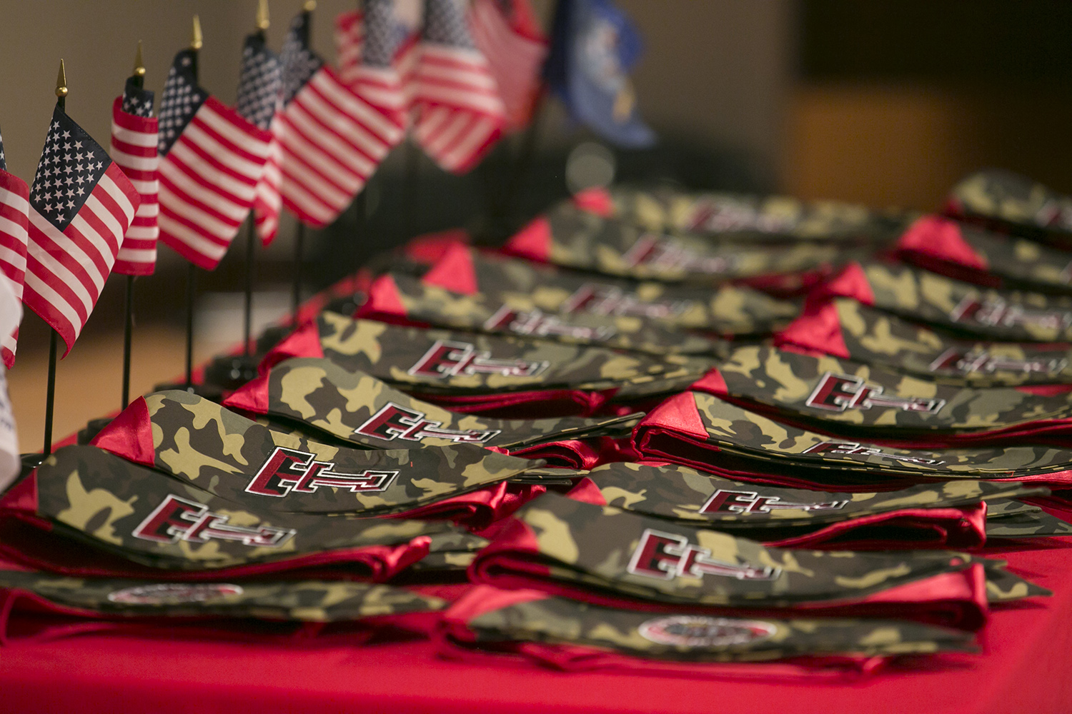 Stoles presented to members of Military & Veterans Programs