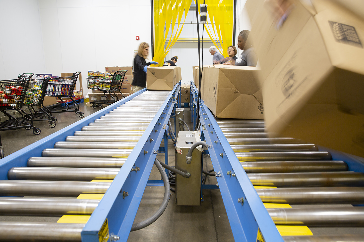 New conveyor belt system implemented at the South Plains Food Bank by mechanical engineering students at Texas Tech.