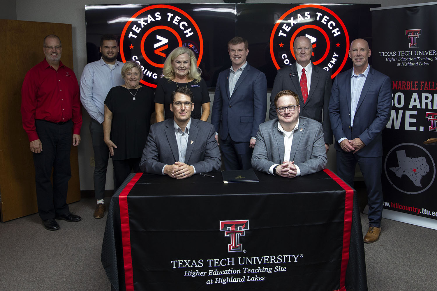 Texas Tech Coding Academy signing.