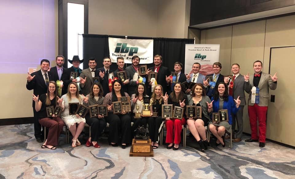 2019 National Champion Texas Tech Meat Judging Team.