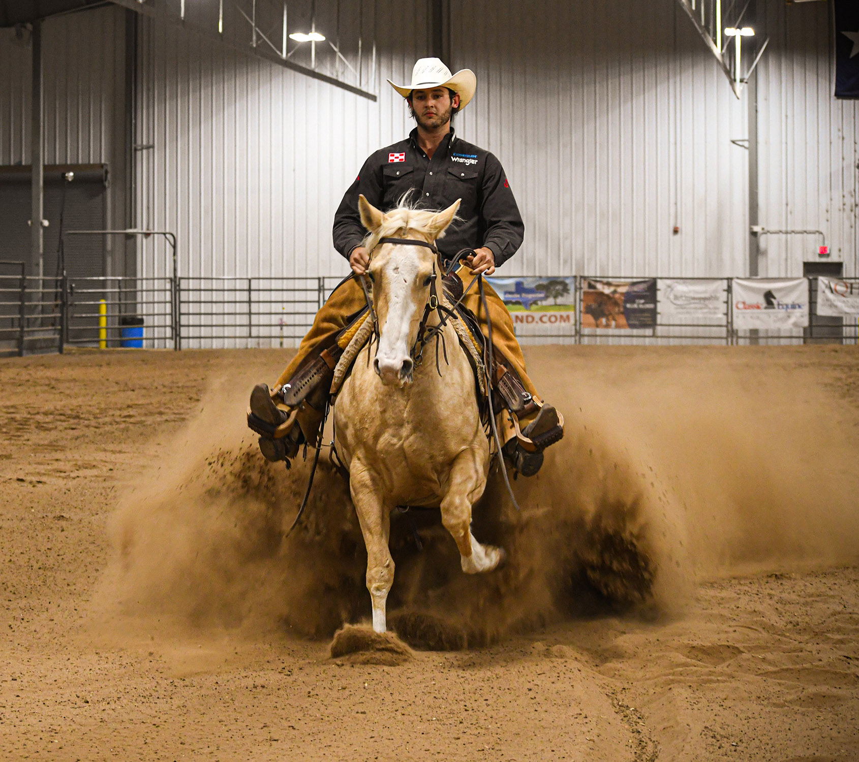 Colton Baca competing at the 2019 Stock Horse of Texas Collegiate World Championships