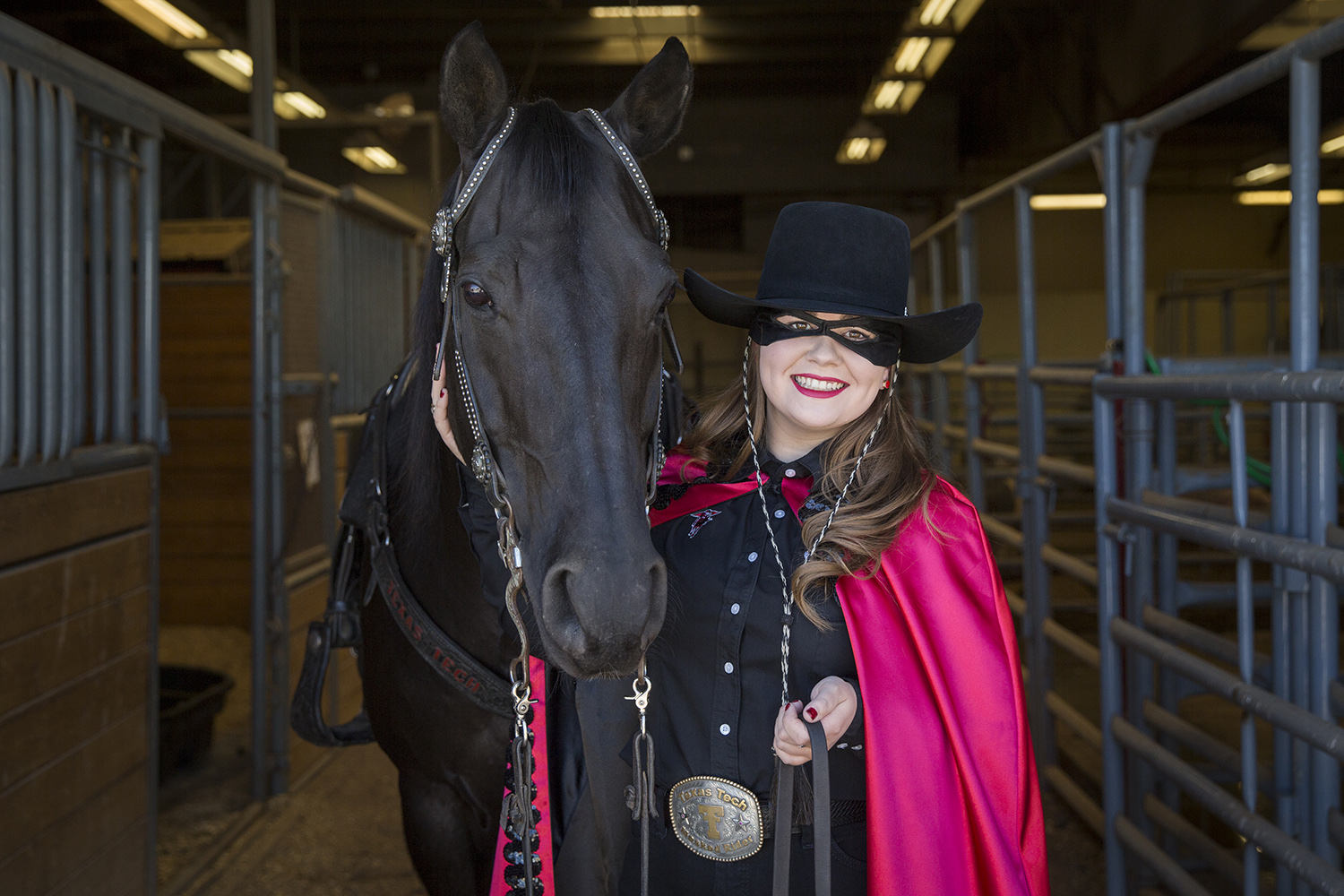 2019-20 Texas Tech Masked Rider Unveiled at Transfer of Reins