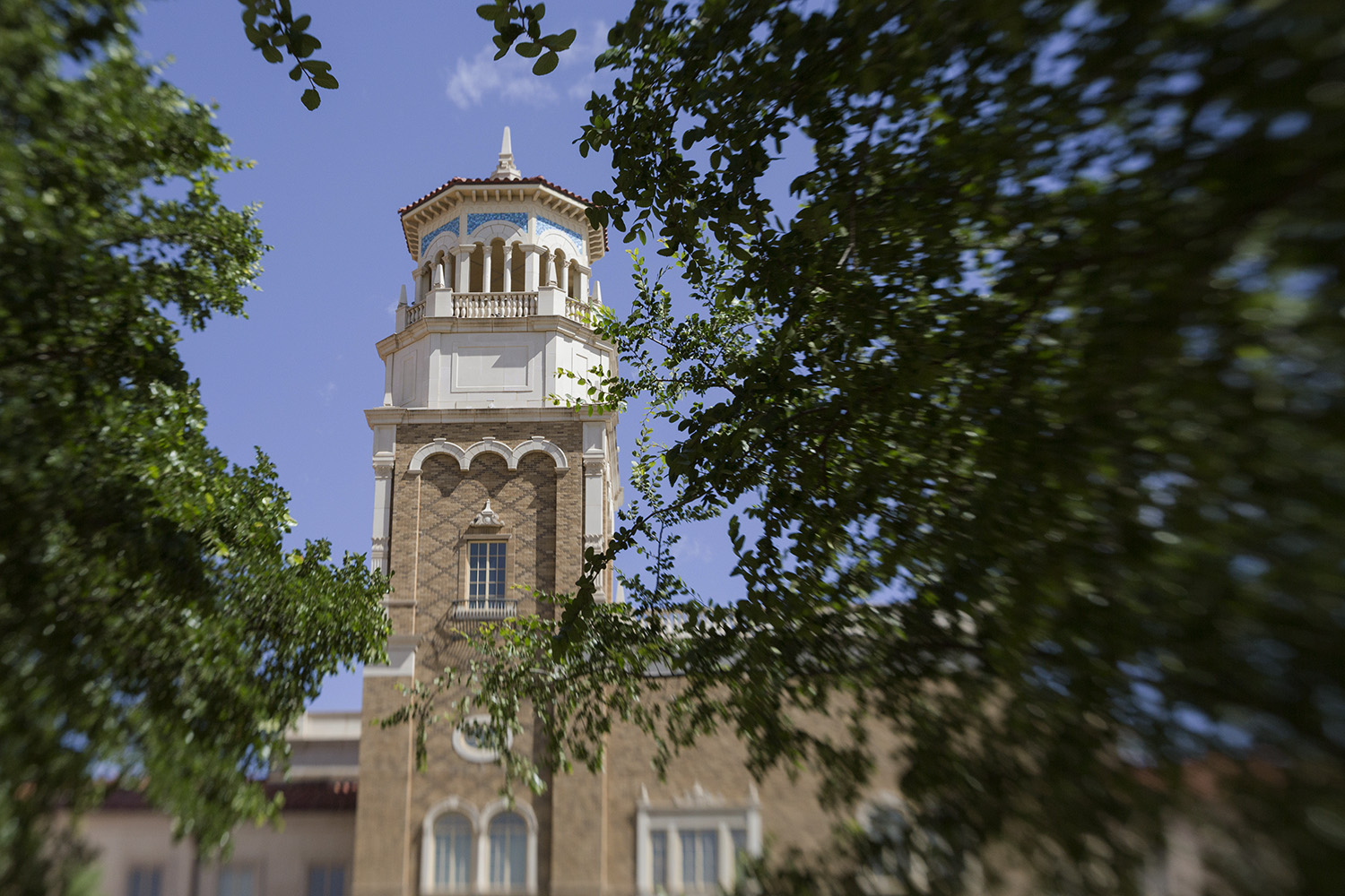 The bell tower of the English building