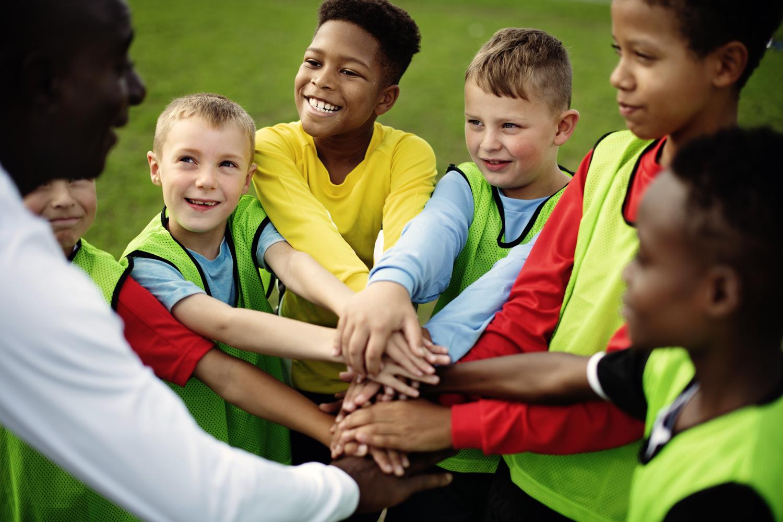 Children playing team sports